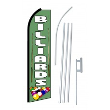 Billiards Extra Wide Swooper Flag Bundle
