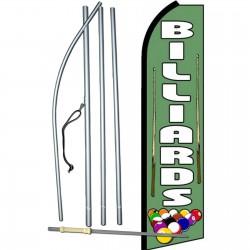 Billiards Extra Wide Swooper Flag Bundle