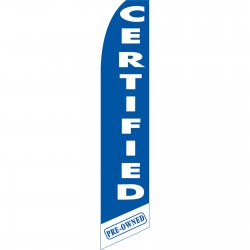Certified Pre-Owned Blue Swooper Flag