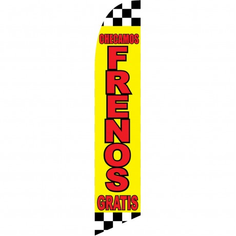 Checamos Frenos Gratis Windless Swooper Flag