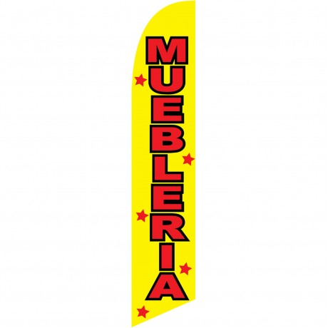 Muebleria Yellow Windless Swooper Flag