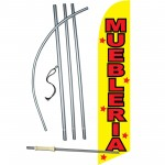 Muebleria Yellow Windless Swooper Flag Bundle