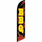 BBQ Black Flames Windless Swooper Flag