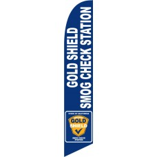 Gold Shield Smog Check Station Windless Swooper Flag