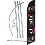 Dish Network Windless Swooper Flag Bundle
