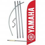 Yamaha Red Windless Swooper Flag Bundle