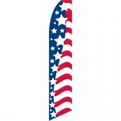 USA Stars Left Swooper Flag
