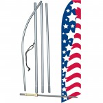 USA Stars Left Swooper Flag Bundle