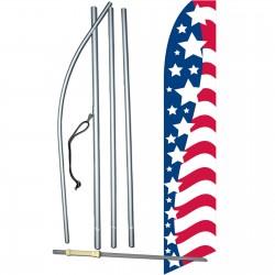 USA Stars Left Swooper Flag Bundle