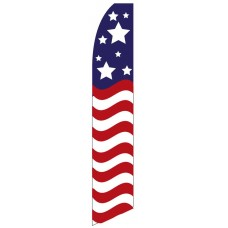 Red White Blue Stars & Stripes Swooper Flag