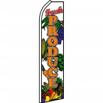 Fresh Produce Veggies Swooper Flag