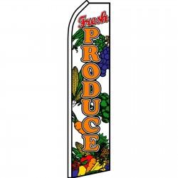 Fresh Produce Veggies Swooper Flag