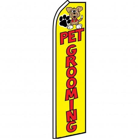 Pet Grooming Yellow Swooper Flag