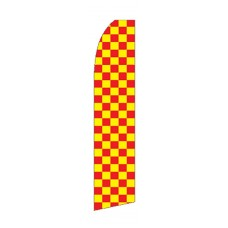 Red & Yellow Checkered Swooper Flag