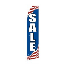 Patriotic Sale Swooper Flag