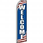 Patriotic Welcome Swooper Flag