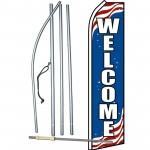 Patriotic Welcome Swooper Flag Bundle