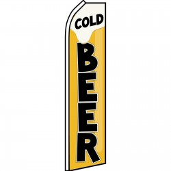 Cold Beer Swooper Flag