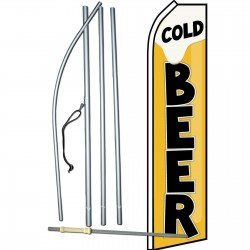 Cold Beer Swooper Flag Bundle