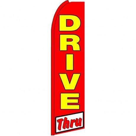 Drive Thru Extra Wide Swooper Flag