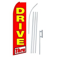 Drive Thru Extra Wide Swooper Flag Bundle