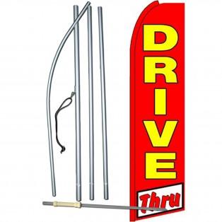 Drive Thru Extra Wide Swooper Flag Bundle