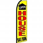 Open House Saturday Sunday Extra Wide Swooper Flag