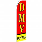 DMV Services Extra Wide Swooper Flag