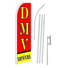 DMV Services Extra Wide Swooper Flag Bundle