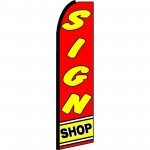 Sign Shop Extra Wide Swooper Flag