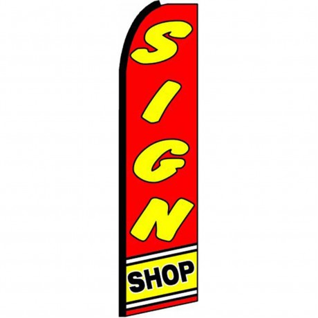 Sign Shop Extra Wide Swooper Flag