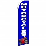 Motorcycles Blue Extra Wide Swooper Flag