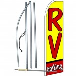 RV Parking Extra Wide Swooper Flag Bundle