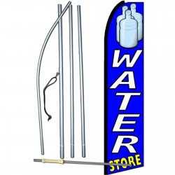 Water Store Extra Wide Swooper Flag Bundle
