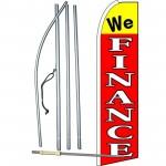 We Finance Extra Wide Swooper Flag Bundle