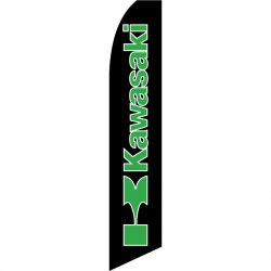 Kawasaki Black Swooper Flag