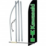 Kawasaki Black Swooper Flag Bundle