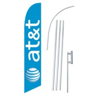 AT&T Wireless Windless Swooper Flag Bundle