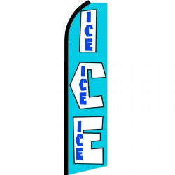 ICE Extra Wide Swooper Flag