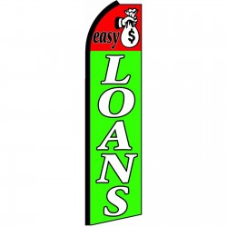 Easy Loans Extra Wide Swooper Flag