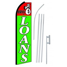 Easy Loans Extra Wide Swooper Flag Bundle