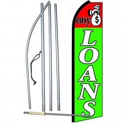Easy Loans Extra Wide Swooper Flag Bundle