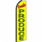 Fresh Produce Yellow Extra Wide Swooper Flag