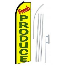 Fresh Produce Yellow Extra Wide Swooper Flag Bundle