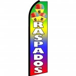 Raspados Rainbow Extra Wide Swooper Flag