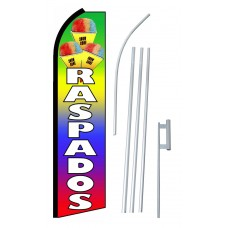 Raspados (Snow Cones) Extra Wide Swooper Flag Bundle