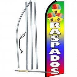 Raspados Rainbow Extra Wide Swooper Flag Bundle