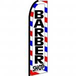 Barber Shop Extra Wide Swooper Flag