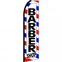 Barber Shop Extra Wide Swooper Flag