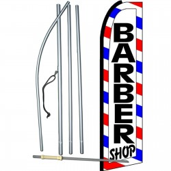 Barber Shop Extra Wide Swooper Flag Bundle